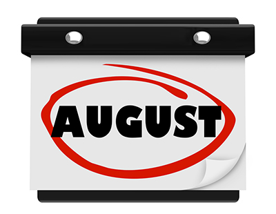 Property auction dates for August 2017