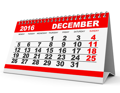 Property auction dates for December 2016