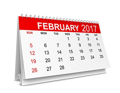 Property auction dates for February 2017