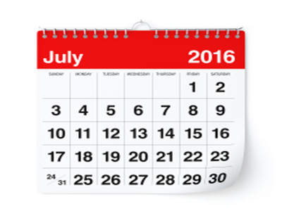 Property auction dates for July 2016
