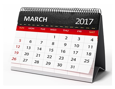 Property auction dates for March 2017