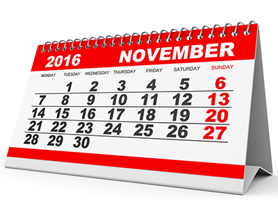 Property auction dates for November 2016