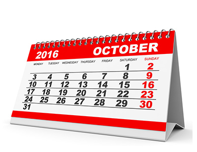 Property auction dates for October 2016