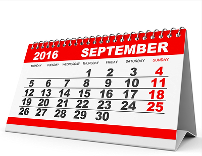 Property auction dates for September 2016