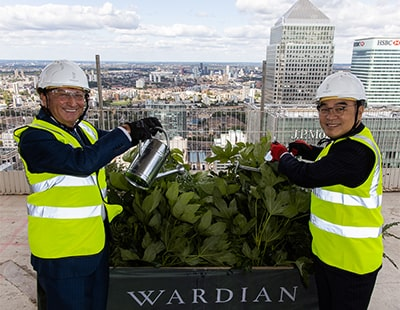'Botanical development' in Canary Wharf tops out