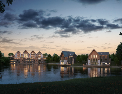 Lavish lakeside scheme completes with support from Shawbrook Bank